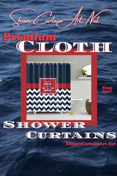 Our luxurious high quality fabric shower curtains are all made with 100% premium grade soft polyester cloth. This allows the curtain to drape gracefully while also providing quick drying technology which easily evaporates any unwanted moisture. Nautical Shower Curtains, Shower Curtain Art, Nautical Bedroom, Fabric Shower Curtains, Bathroom Shower Curtains, Bathroom Fixtures, Bathroom Lighting, Bathroom Organization, Bathroom Storage