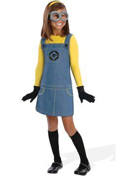 Despicable Me 2 Female Minion Child Costume #Halloween #costumes #despicableme #minions