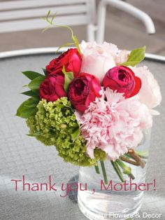 Mother's day,Bouquet,Rose,Pink,Red,Carnation,Snowball,Miyabi Flowers & Decor,母の日,ブーケ,ピンク,赤