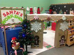 Santa village in classroom