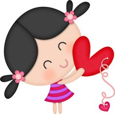 "from album ""Valentines day"" on Cute Images, Cute Pictures, Diy And Crafts, Crafts For Kids, Cute Cartoon Girl, Cute Clipart, Cute Illustration, People Illustration, Emoticon"