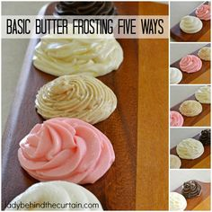Basic Butter Frosting Five Ways | Add different ingredients to this basic frosting recipe and create new flavors.