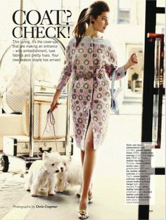 """The Terrier and Lobster: """"Coat? Check!"""": Anna Speckhart by Chris Craymer for Glamour UK"""