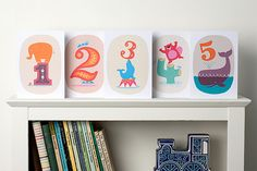 'Big Phil and Friends' 1-5 Age Cards