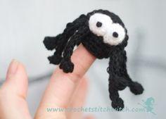 Finger Puppet Spider free crochet pattern - 10 Free Crochet Spider Patterns - The Lavender Chair