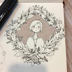 Oak~ Farewell 2016 Welcome 2017 u///u Amazing Drawings, Cute Drawings, Amazing Art, Arte Sketchbook, Anime Art Girl, Aesthetic Art, Ink Art, Cute Art, Loki