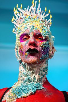 Pictures of Tash Kouri's Artwork. Images of her bodyart, bodypainting, creative direction, and makeup design. Psychedelic Glamour, Drag Du Soleil