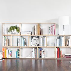 The other DIY obsession: building modular shelves for the living room to house our books.