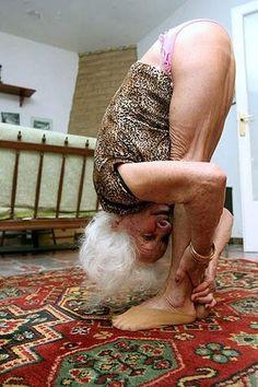 grandmas need to be flexible... and wear pink panties
