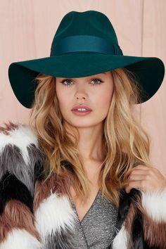 Nasty Gal Emerald Wool Hat