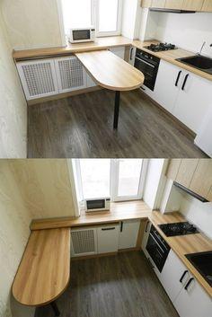 Kitchen Room Design, Home Decor Kitchen, Interior Design Kitchen, Kitchen Furniture, Home Kitchens, Tiny House Living, Small Living, Küchen Design, House Design