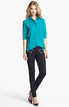 Fever Blouse & MICHAEL Michael Kors Skinny Pants  available at #Nordstrom