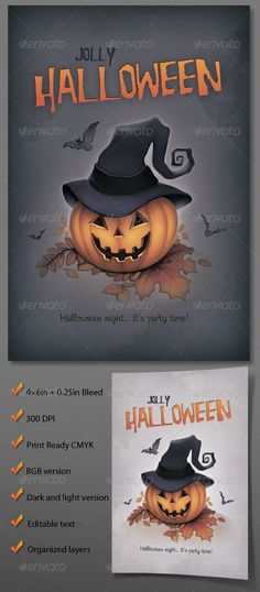 45 Best Halloween Flyers  Posters images Card templates printable