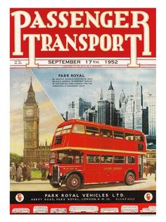 Iposters Passenger Transport London Bus Print Magnetic Memo Board Silver Framed - 41 X 31 Cms (approx 16 X 12 Inches) London Transport, Public Transport, Transport Posters, London Bus, Vintage London, Old London, West London, British Travel, Routemaster
