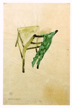 Egon Schiele, Recollection of the Green Stockings, drawing and watercolor