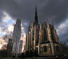 The Cathedral of Learning & Heinz Chapel in Pittsburgh