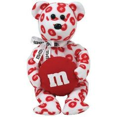 1 X Ty Beanie Baby - Red The M&ms Bear Walgreens Exclusive Beanie Baby Bears, Ty Beanie Boos, Ty Stuffed Animals, Stuffed Toy, Ty Babies, Babies Stuff, Ty Bears, Hello Kitty Characters, Original Beanie Babies
