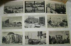 Jewish Judaica Vintage Palestine Israel TEL AVIV Photo Postcard Lot x9 Tel Aviv, Jerusalem Israel, City Architecture, Photo Postcards, Berlin Germany, Palestine, Ebay, Vintage, Vintage Comics