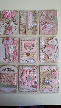 Pocket Letters ❤ Tilda in Pink 💗 Pocket Pal, Pocket Cards, Atc Cards, Journal Cards, Pocket Scrapbooking, Scrapbook Cards, Pocket Envelopes, Arte Country, Karten Diy