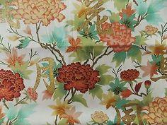 WtW Estate Fabric Kona Bay Floral TREA 09 BTY 2010 Garden Asian Flower Quilt