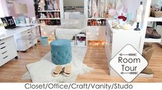 Closet/Craft/Vanity/Office/Studio Tour & DIY Backdrops