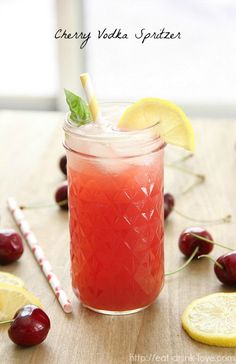 Cherry Vodka Spritzer @Amy