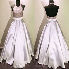 New Arrival Prom Dress,Modest Prom Dress,beaded halter long satin burgundy prom dresses ball gowns 2017 real sample evening gowns