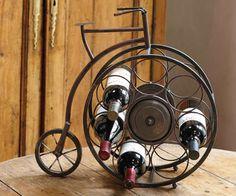 Metal Tabletop Bicycle Wine Bottle Holder from Hammer-Lindholm (Official)
