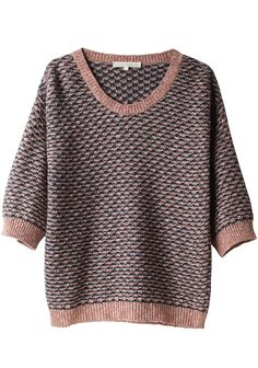 VANESSA BRUNO / TEXTURED JACQUARD SWEATER