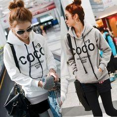 New Fashion Korea Women Casual Hoodie Sweatshirt Tracksuits Tops Outerwear
