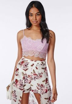 MissGuided Eyelash Lace Bralet Lilac | $30.00 | Available Sizes 4,6,8,10 | #Chic Only #Glamour Always