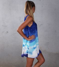 Fashion loose sleeveless printed dress  YAH63CP