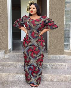 Ankara styles pictures, Ankara Styles & Aso Ebi Hub, Ankara styles out these latest african fashion trends we have lined up for you today. They look classic and absolutely gorgeous. Be inspired! Long Ankara Dresses, Ankara Long Gown Styles, Trendy Ankara Styles, Ankara Skirt, Maxi Dresses, African Dresses For Women, African Print Dresses, African Attire, African Wear