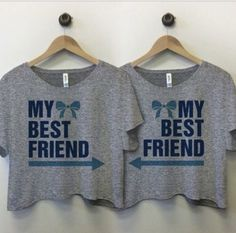 Me and my BFF are gonna rock these shirts Bff Shirts, Best Friend T Shirts, Best Friend Outfits, Best Friend Goals, Cute Shirts, My Best Friend, Best Friends, Friends Shirts, Best Friend Matching Shirts
