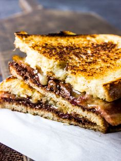 Nutella Brie and Bacon Grilled Cheese - Treats and Eats