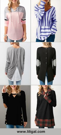 long sleeve tops, long sleeve blouses, long sleeve t shirts, womens fashion, womens style