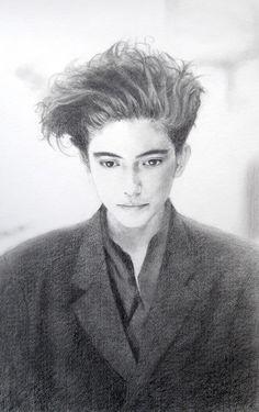 1992 モデル不明 illustration by Naoko Aoyama