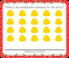 Multiplication Candy Arrays SMART BOARD Game - Common Core - Have fun with all sorts of virtual candy while making multiplication arrays and multiplication sentences. This self-checking Smart Board game is based on the 3rd grade common core standards 3.OA.A.1 and 3.OA.A.3. $