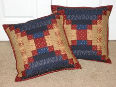 Quilted Courthouse Step Pillows