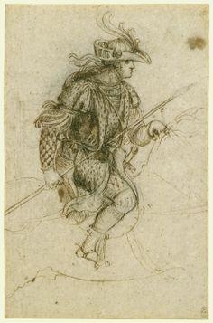Leonardo da Vinci online › Drawing of a young man in costume on horseback :: Enlarged Image Giorgio Vasari, Leonardo Da Vinci Dibujos, Mona Lisa, The Royal Collection, Italian Renaissance, Michelangelo, Old Master, Drawing Sketches, Sketching