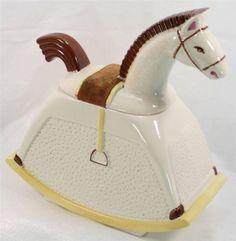 Vintage Abingdon Pottery 602 Rocking Horse Cookie Jar