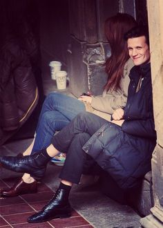 "Matt and Karen,  Just look at his smile! :) he`s like ""hihi she doesn`t notice your taking a picure , seeeee?"