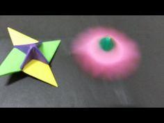 399 Origami 종이접기 ( 딱지 팽이) 색종이접기 折纸 оригами 摺紙 折り紙 اوريغامي - YouTube