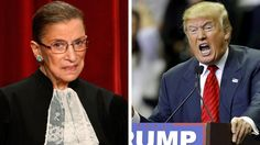 Presumptive Republican presidential nominee Donald Trump ripped Supreme Court Justice Ruth Bader Ginsburg in a Twitter message late Tuesday.