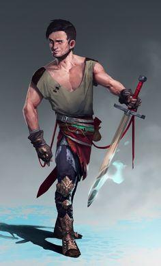 Male warrior concept by MaxGrecke on DeviantArt