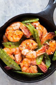 Honey-Chili-Garlic Tiger Prawns: Plus 24 More Easy Five-Ingredient Meals for Lazy Nights via @PureWow