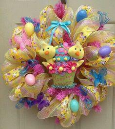 Front Door Easter Wreath Easter Duck Wreath Easter Decor | Wreaths ...