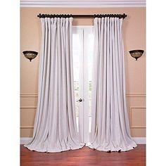 96 Inch Girls Off White Color Blackout Extra Wide Curtain