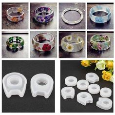 A31 Clear handmade Silicone Mold for Ring size 8. Free USA Shipping.