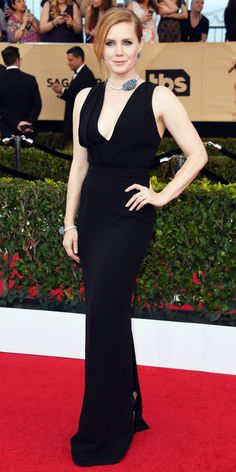 Amy Adams in Brandon Maxwell. See All the Celebrity Looks from the 2017 SAG Awards Red Carpet - Amy Adams from InStyle.com